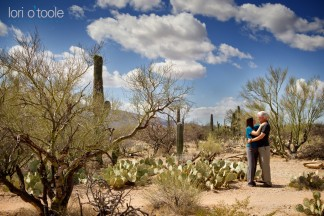 Saguaro Park engagement photo