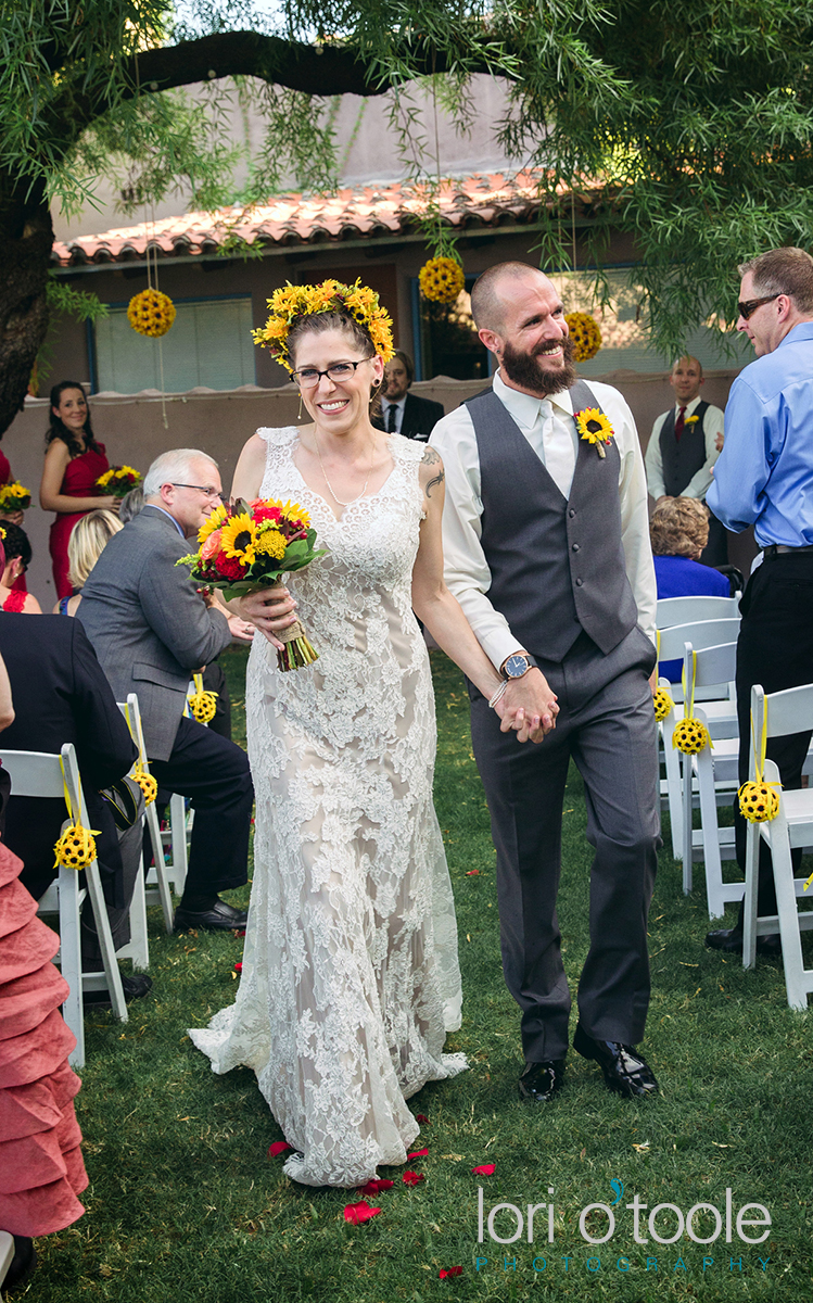 Lodge on the Desert Wedding, Lori OToole Photography, sunflower wedding