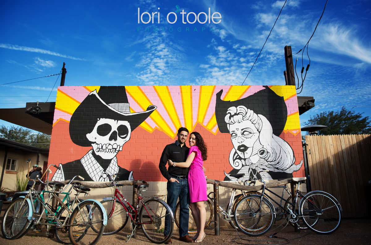 downtown Tucson engagement photos; LOri OToole Photography; Barrio Tucson