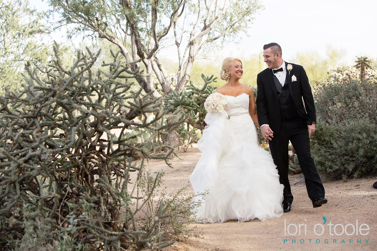 Gallery at Dove Mountain wedding, Lori OToole Photography, romantic desert wedding