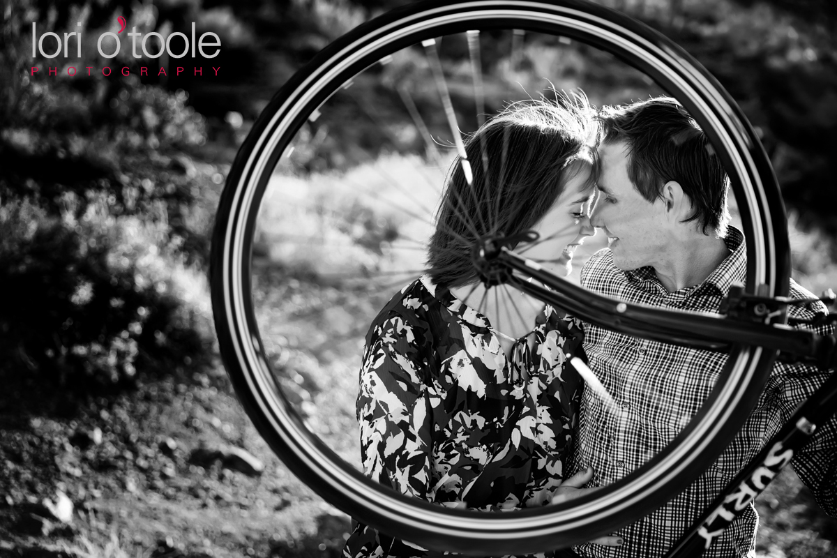 tucson biking engagement, Lori OToole Photography