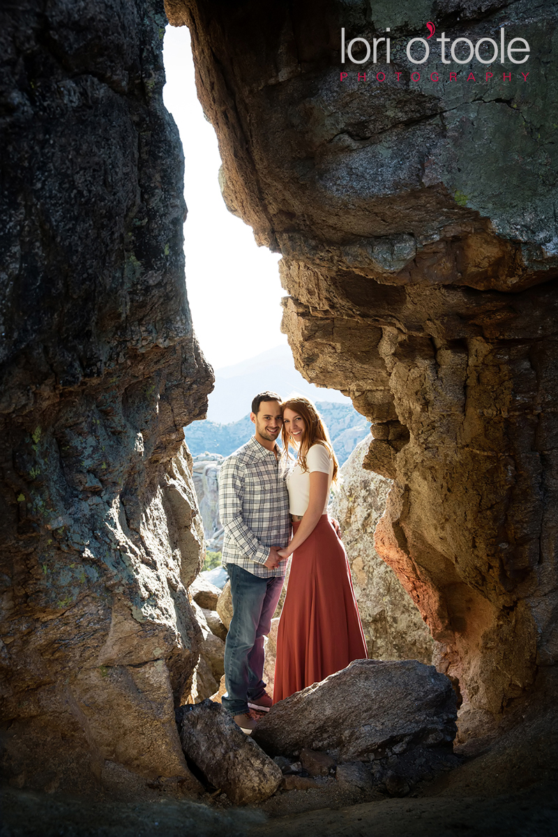 Mount Lemmon engagement photos; Lori OToole Photography; Tucson Wedding Photographers